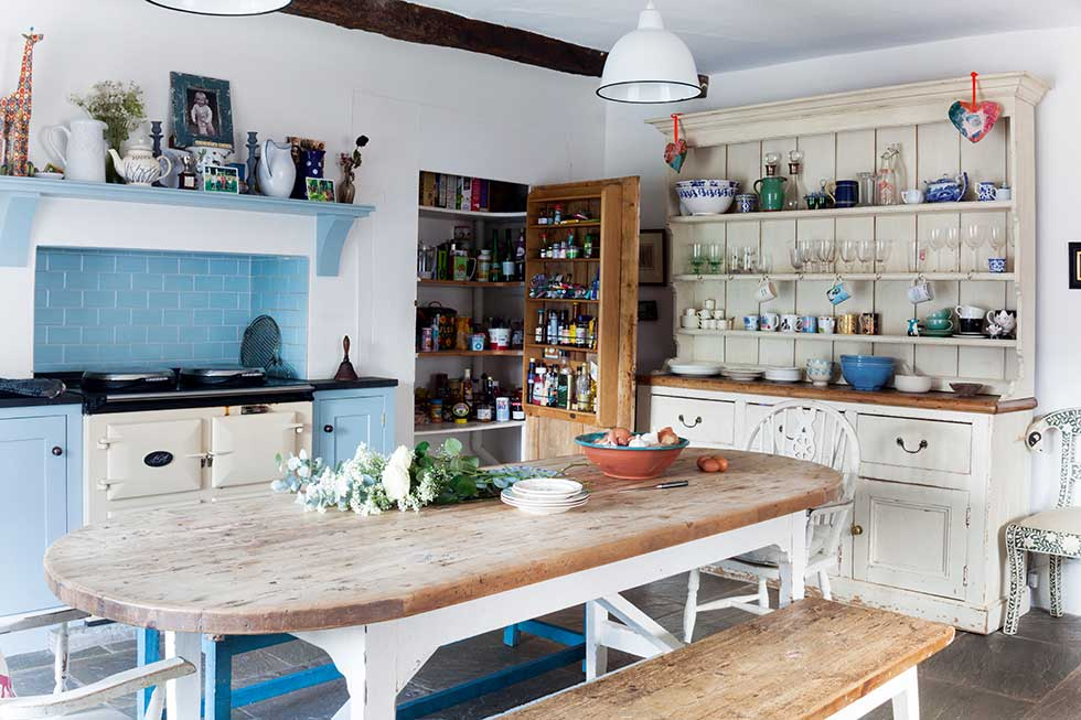 Georgian farmhouse restored for family life period living for Period kitchen design
