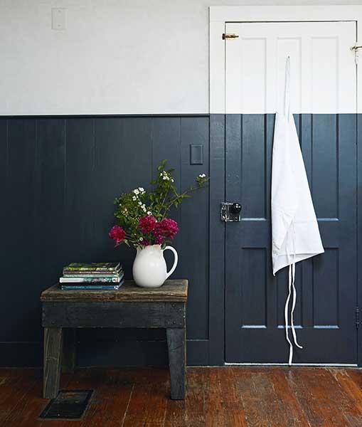 modern pastoral book painted door wall