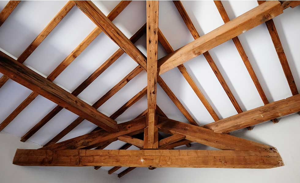 Timber beams in period properties renovation