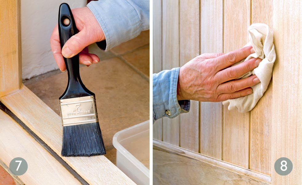 Add some waterproofing to protect the lime finish; Buff up the doors