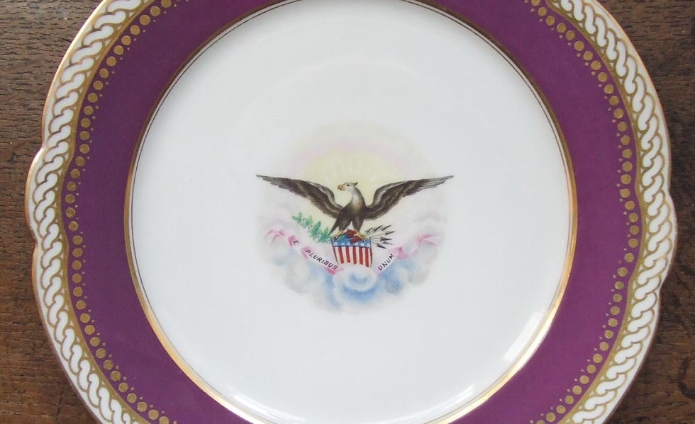 abraham lincoln whitehouse dinner service antiques plate