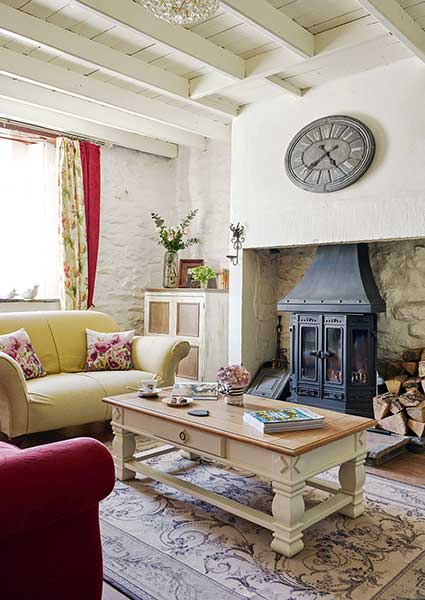 Stone cottage filled with upcycled finds period living for Living room decorating ideas ireland