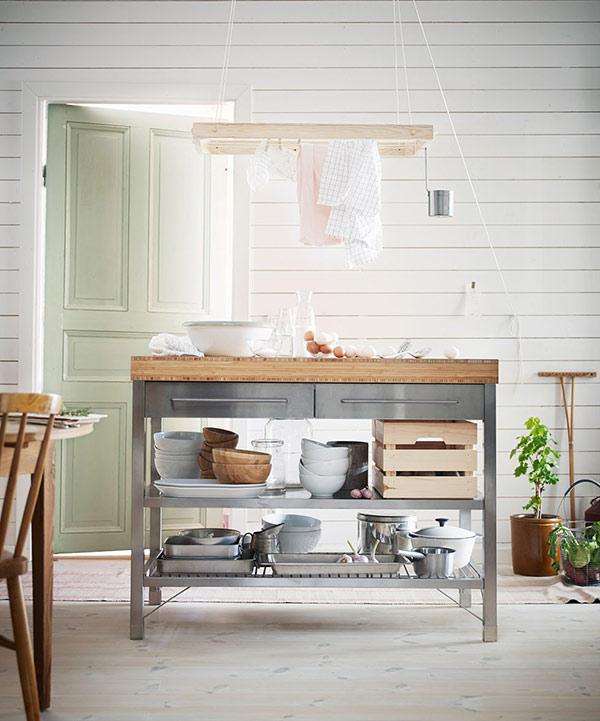 freestanding stainless steel kitchen island unit