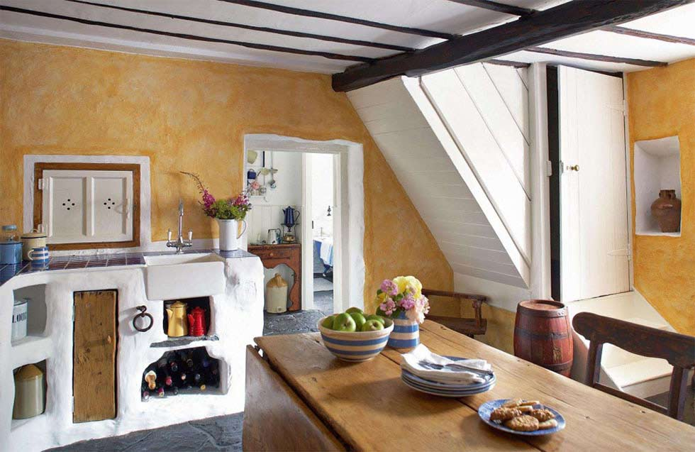 A Restored Thatched Cottage With Colourful Interior