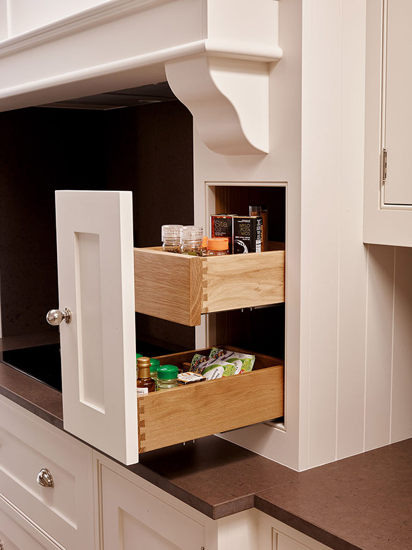 clever alcove sliding shelving storage drawers