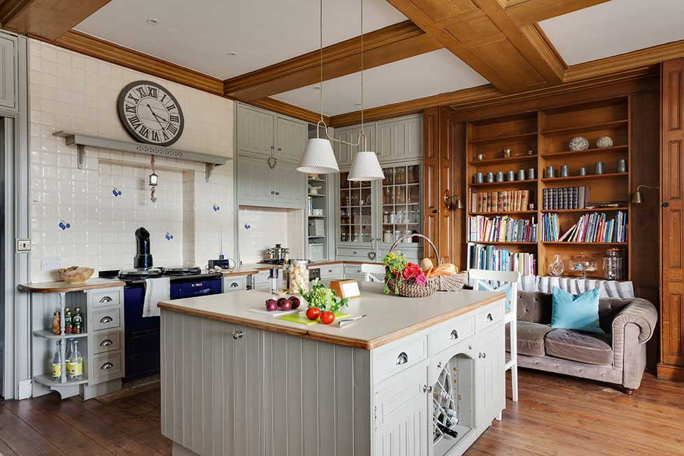 Country kitchen in a grand house