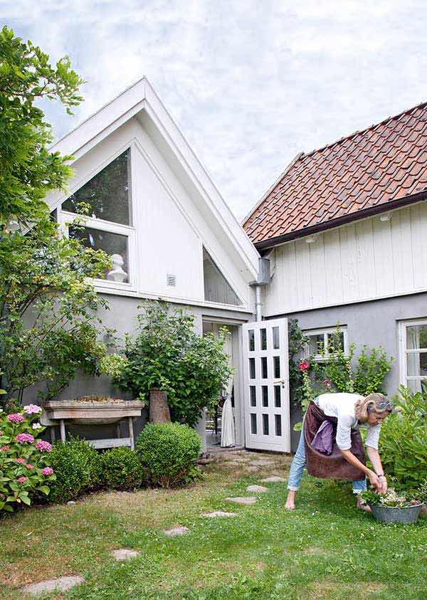 rural danish retreat with a lush green garden near the seaside