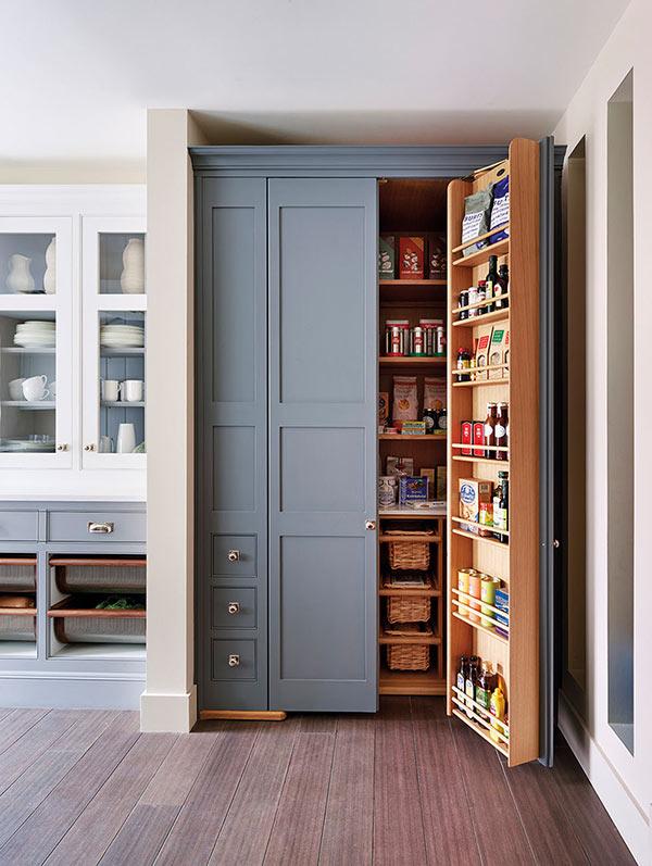 built in kitchen larder pantry storage