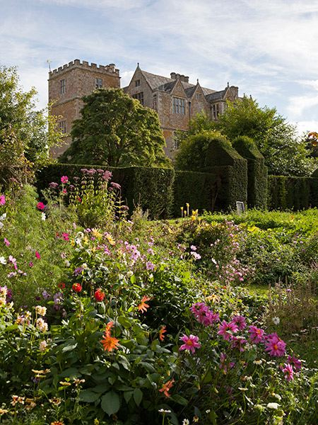 Chastleton house garden in summer oxfordshire