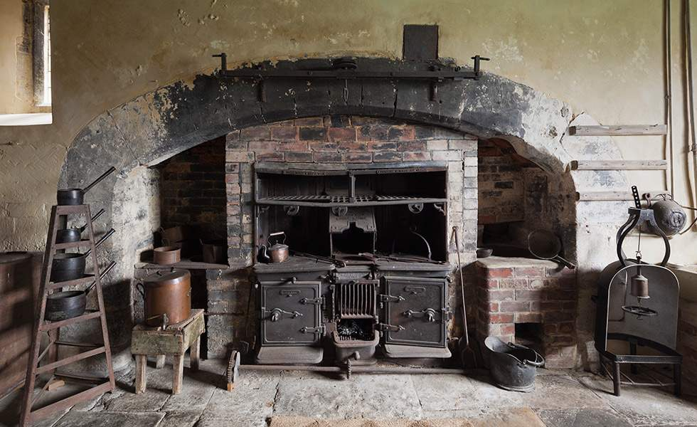 Old Kitchen at Chastleton House Oxfordshire