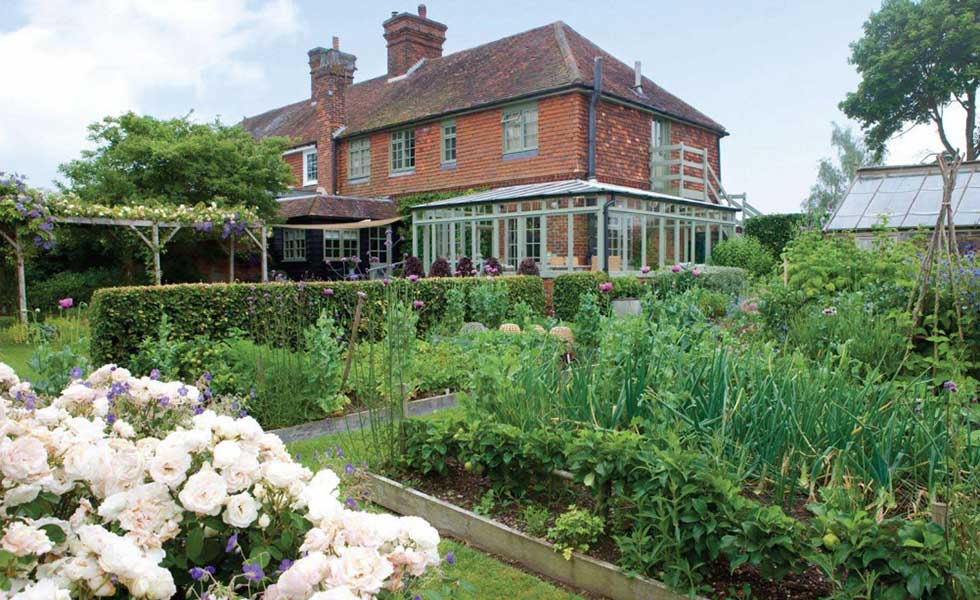 victorian house with connected kitchen gardens