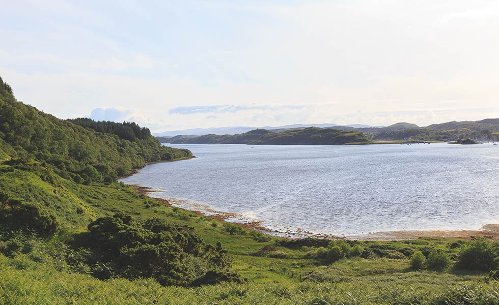 the view from a coastal 18th century highland cottage
