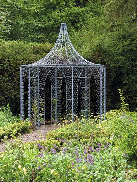garden arch handwoven wire hexagonal gazebo