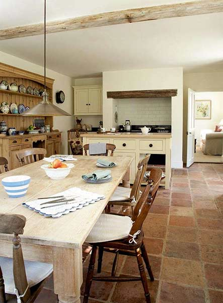 sympathetically restored farmhouse kitchen