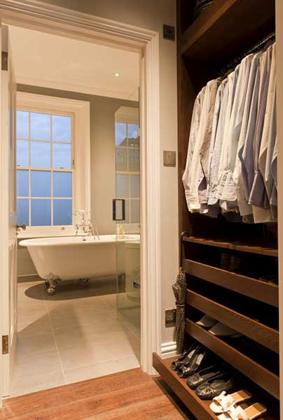 How to create a dressing room real homes for Bathroom designs with dressing area