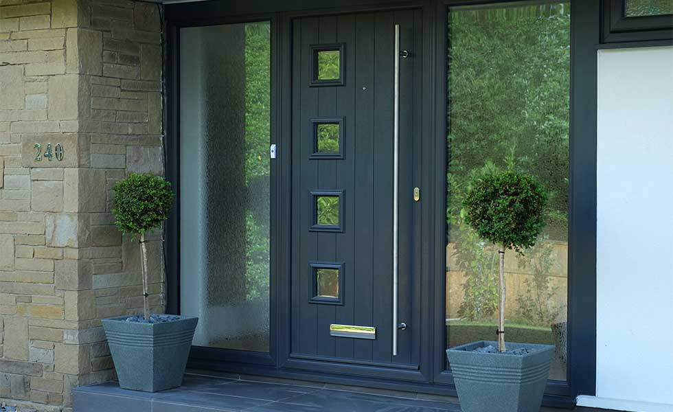composite front door Milano grey