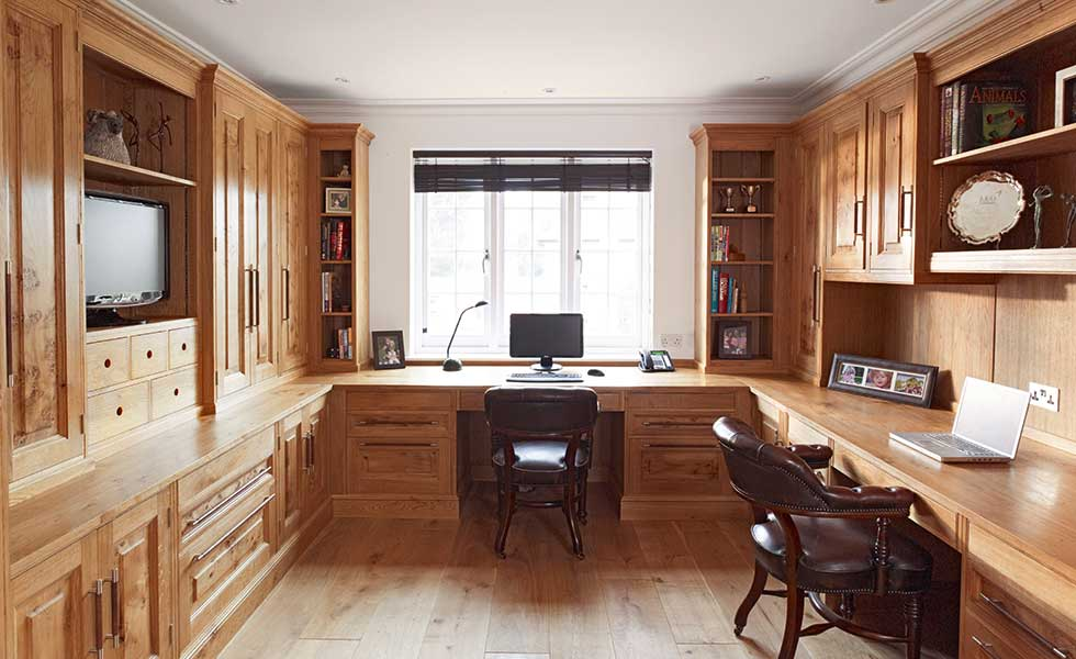 Rencraft oak fitted office