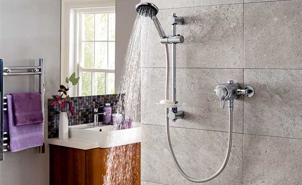 delighted shower in bathroom
