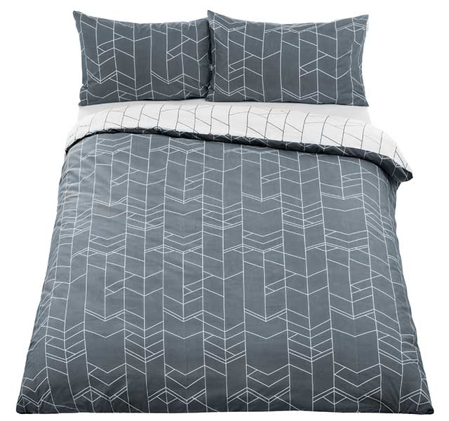 elevation duvet cover and pillowcase set in smoke