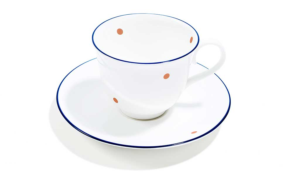 Speck teacup and saucer by richard brendon