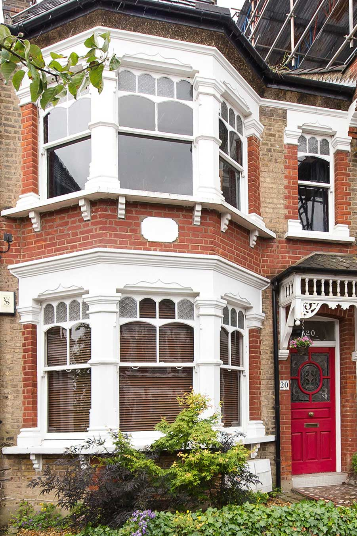 Duplex apartment Edwardian exterior