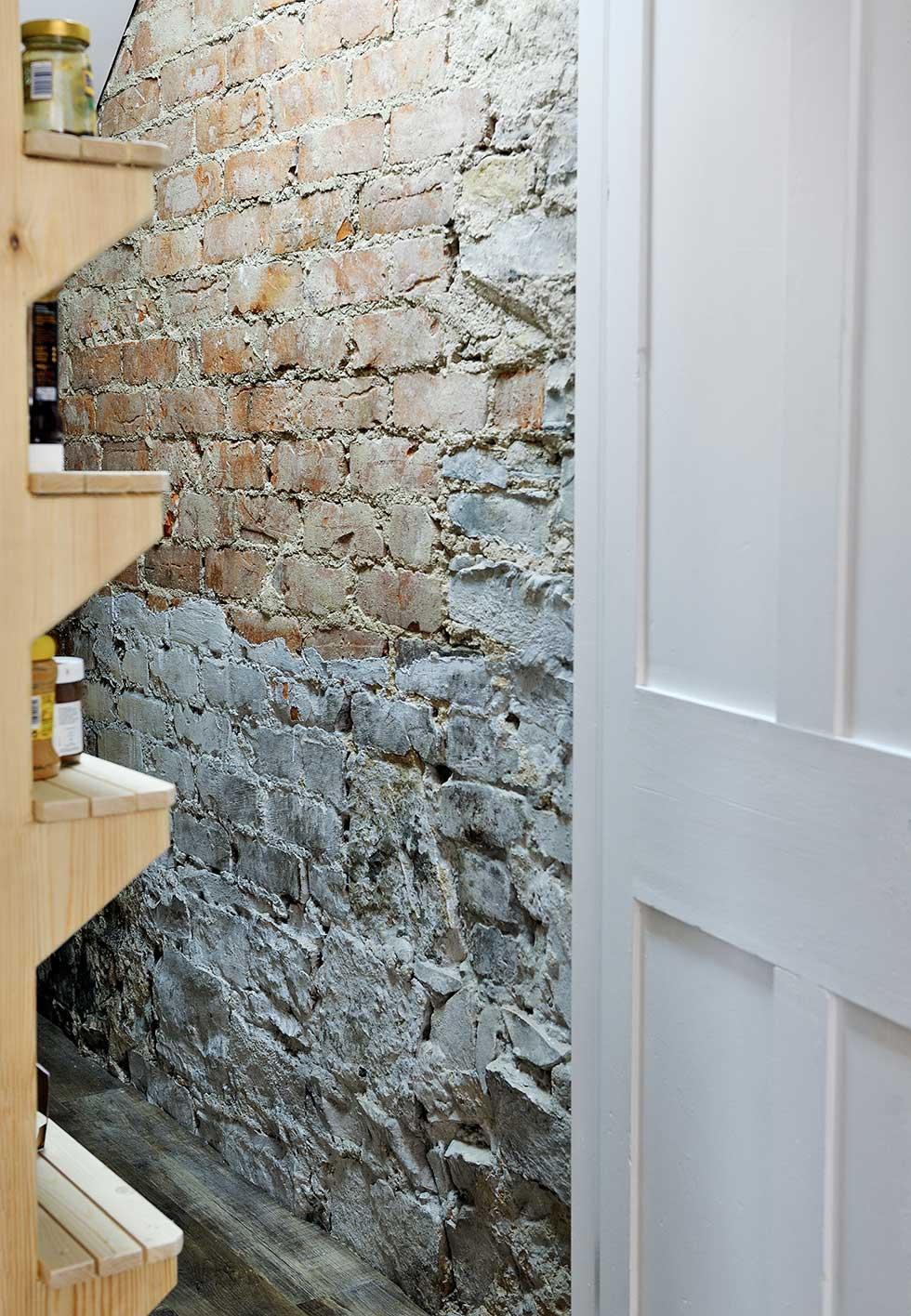 wooden larder in kitchen-diner extension