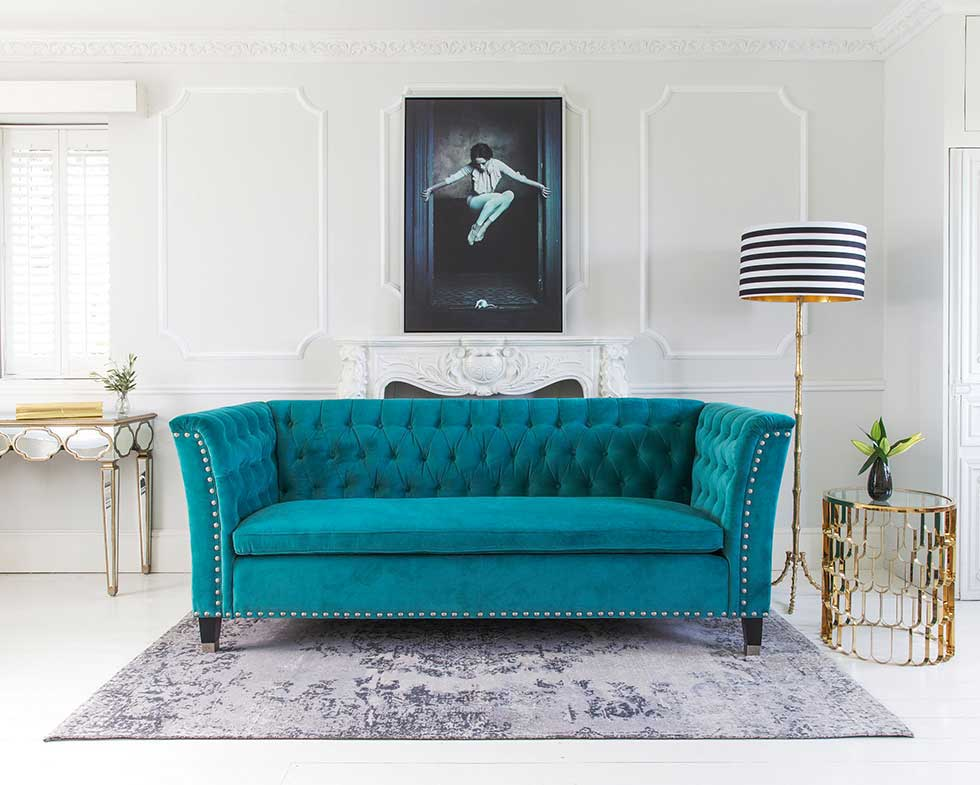 16 ways to use blue in your interior scheme real homes for Bedroom ideas velvet bed