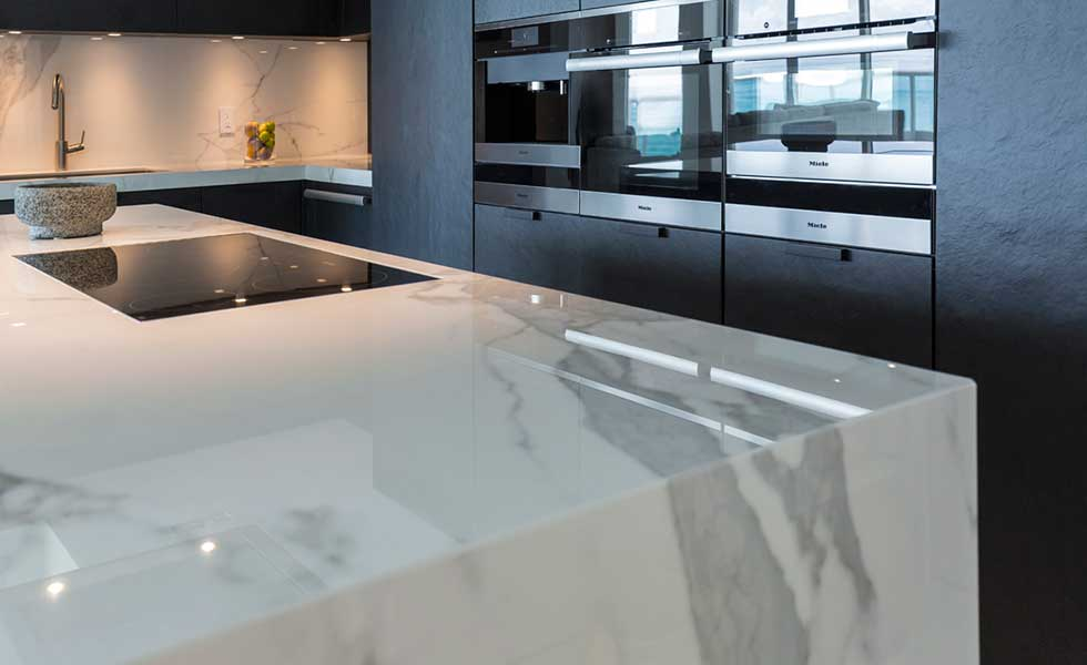 Neolith worktops from purple granite