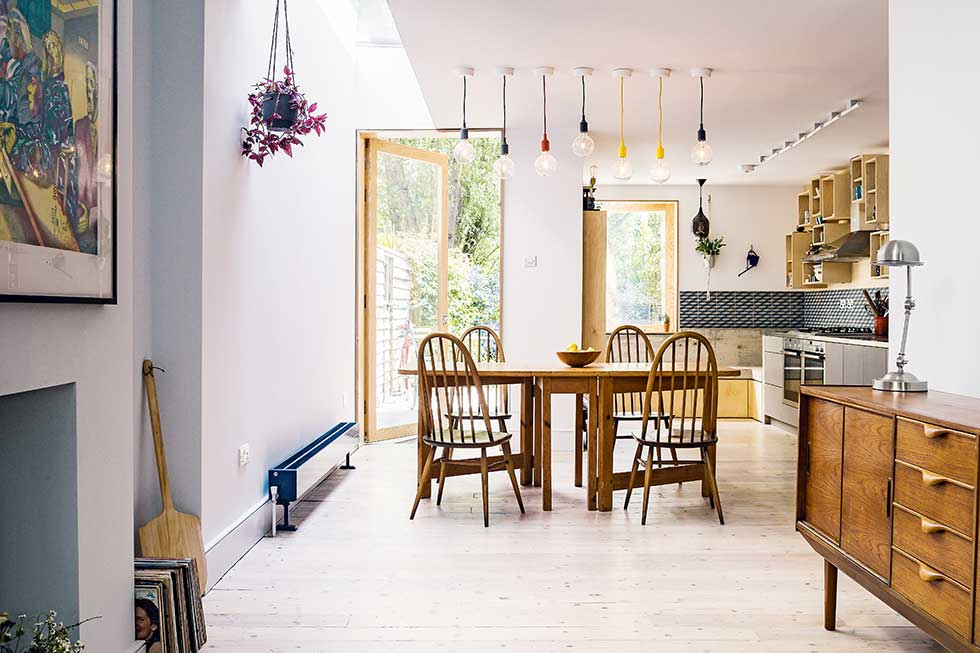 Adding value to a terraced house with a kitchen extension for Terraced house dining room ideas