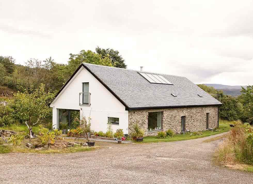 Stone barn conversion exterior transformation
