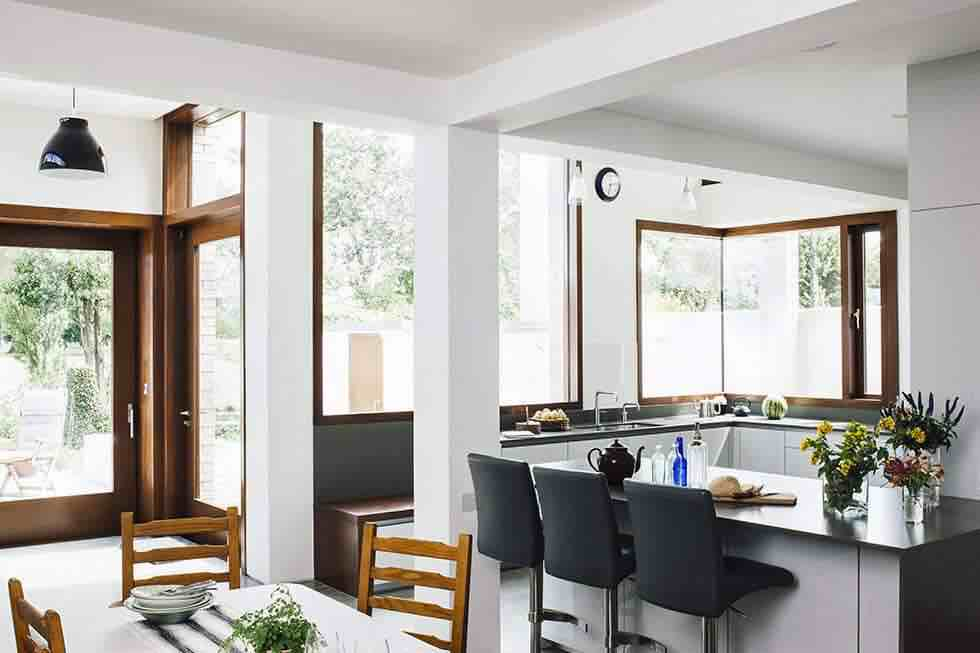 architectural kitchen extension kitchen island with bar stools