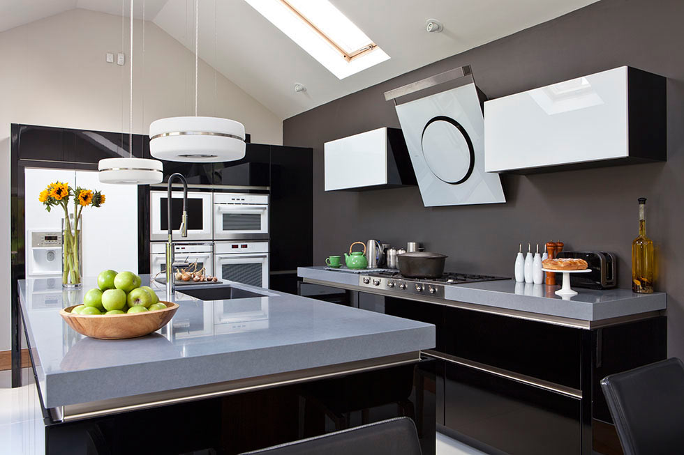 contemporary black kitchens