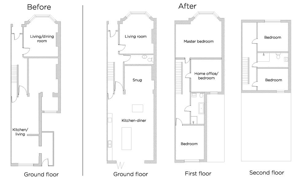 floor plans for cardif victorian terraced