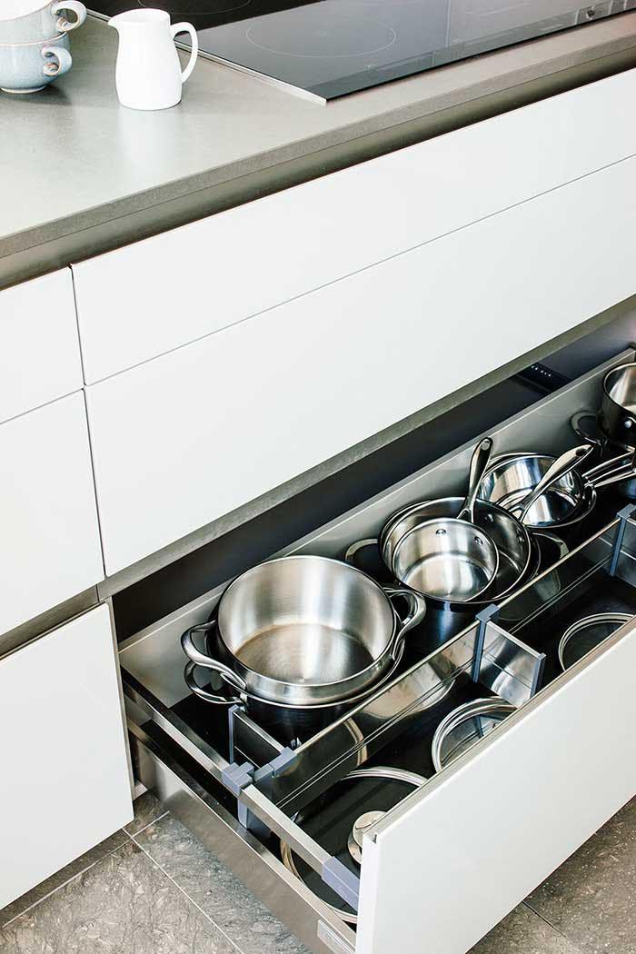 smart storage in an architectural kitchen extension