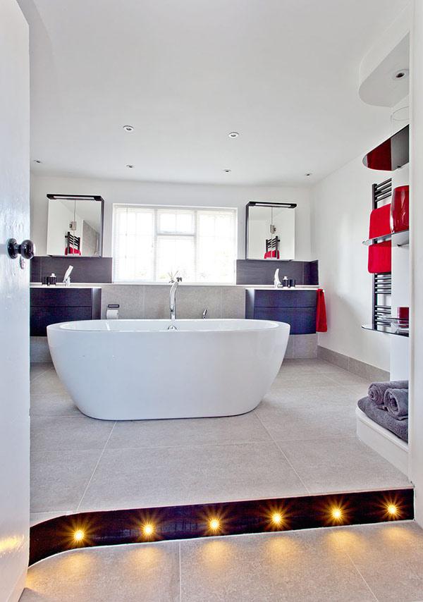 Bathroom plinth lights