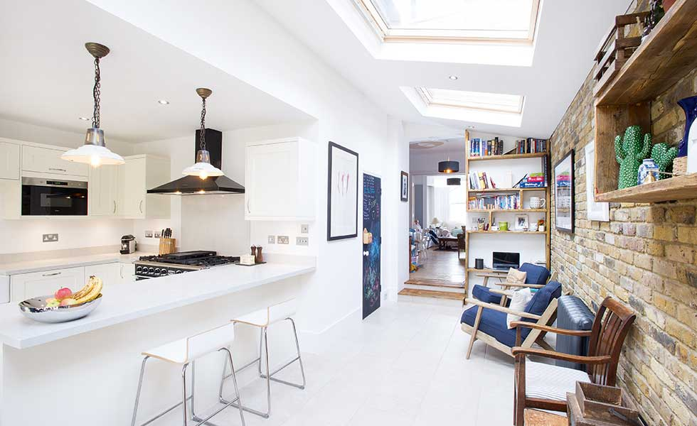 open plan side return kitchen diner extension