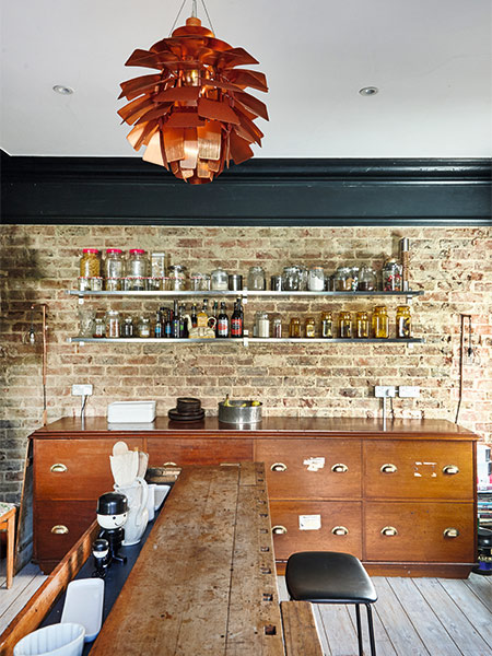 exposed-brick-wall-kitchen