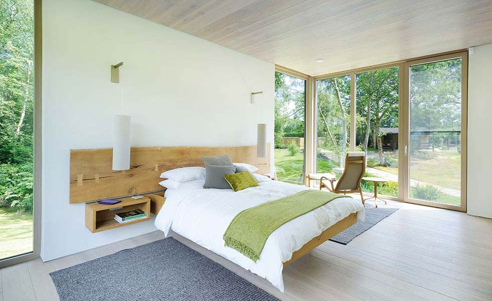 luxury minimalistic bedroom in the new forest