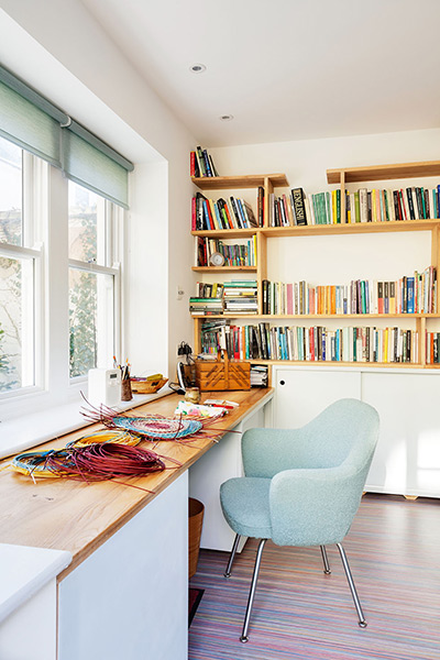 office craft studio in a Victorian flat