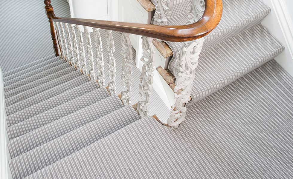 Stair carpet in Sloane Steel carpet