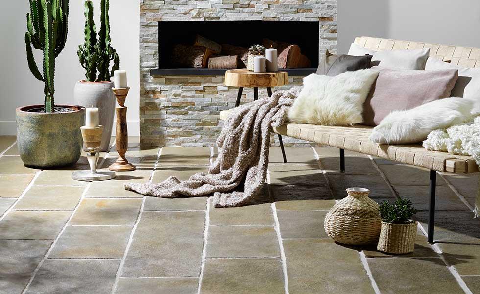 Limestone rustic floor tiles