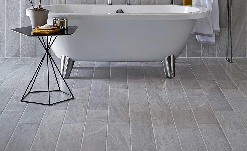 Silver porcelain tile