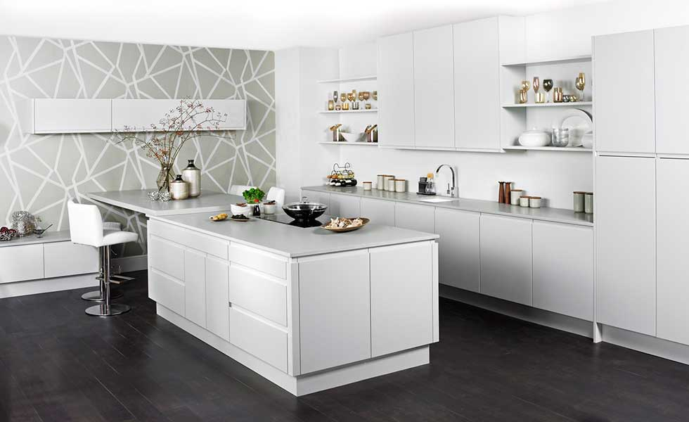 White Kitchen Feature Wall fine white kitchen feature wall and more on ah kitchens c to
