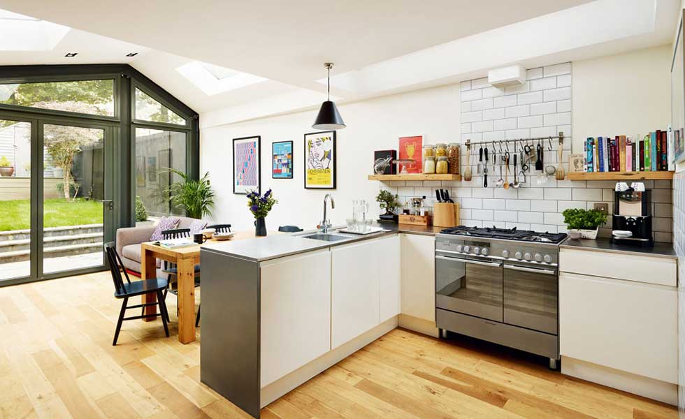 Delightful Kitchen With Industrial Style Features