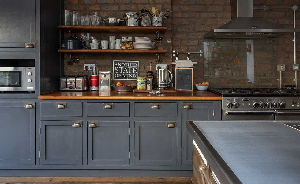 How to create a feature with an exposed brick wall real for Kitchen designs with brick walls