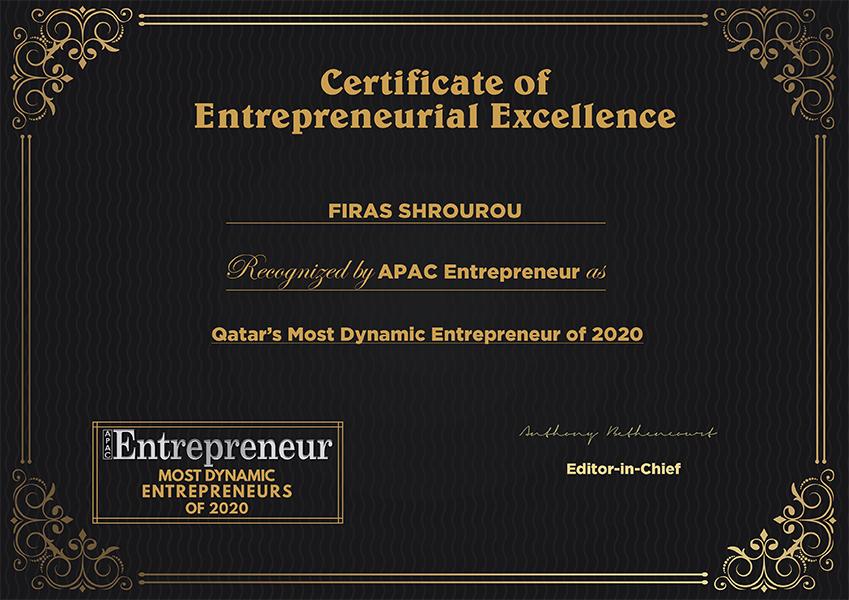 Qatar's Most Dynamic Entrepreneur Award
