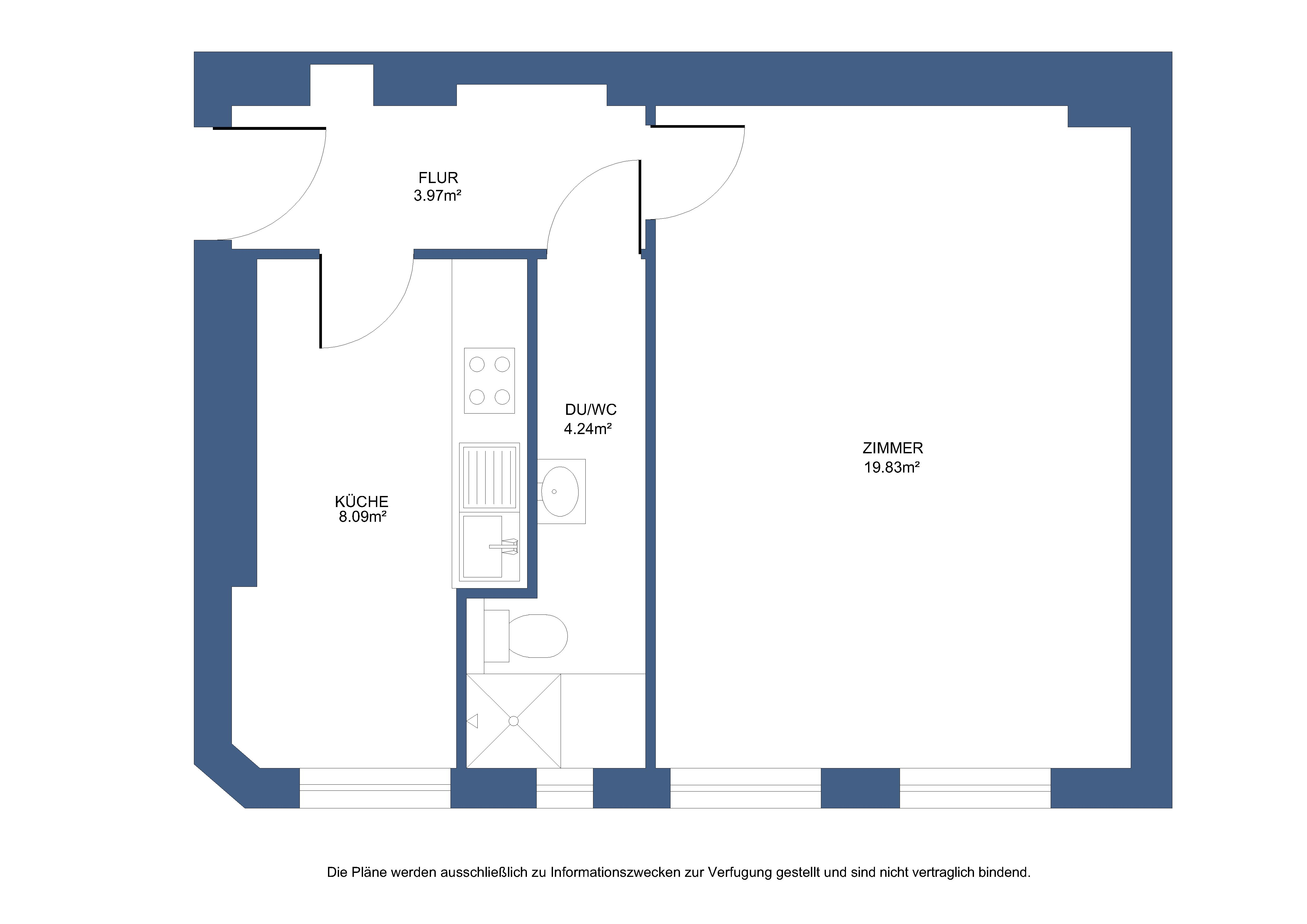 Immobilienmakler Berlin   Kiezig-Klein: Sofort verfügbare Singlewohnung zum Selbermachen!