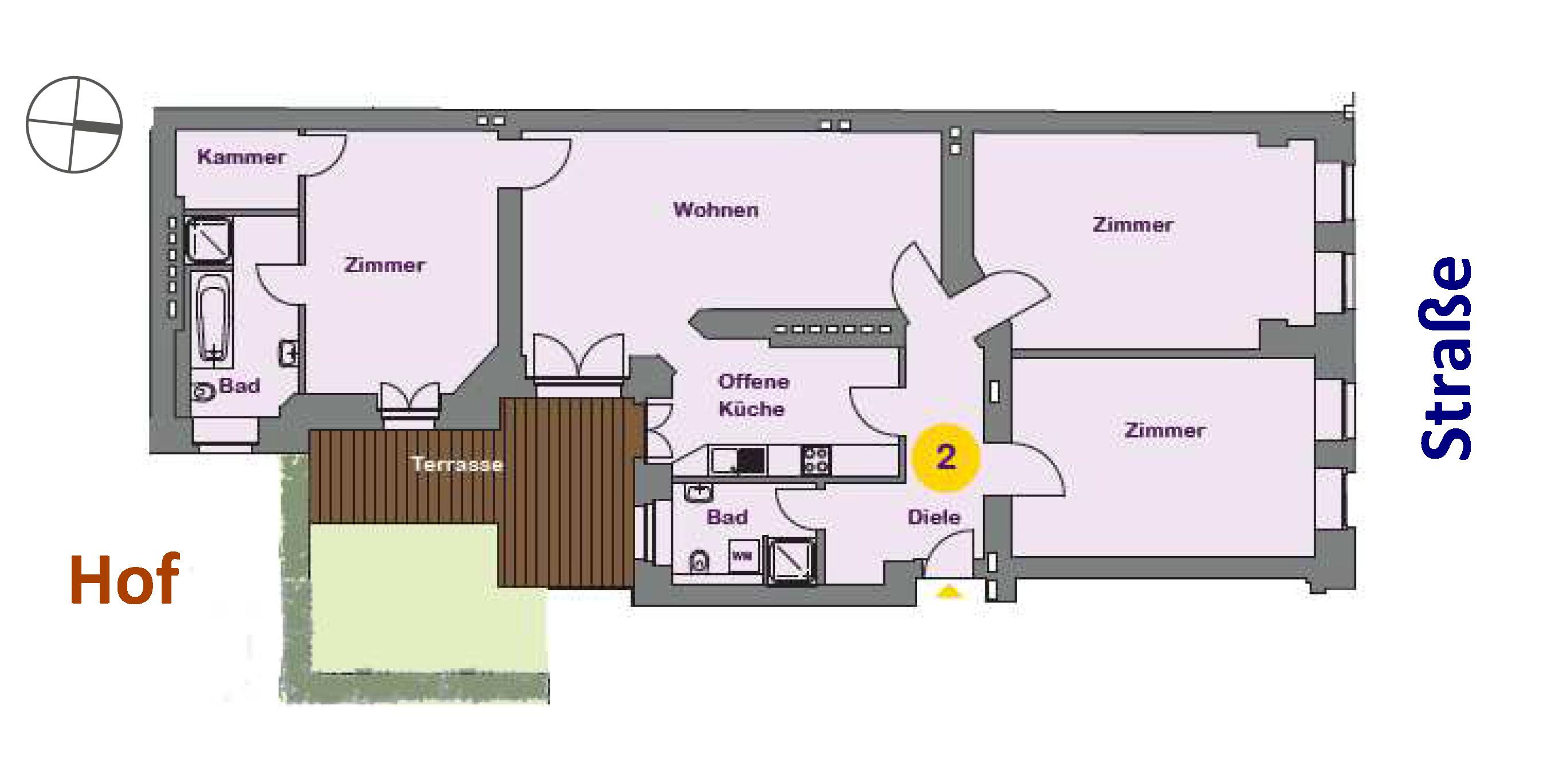 Immobilienmakler Berlin | Vollflexibles + Verfügbares Vielseitigkeitsobjekt: 4 Zimmer, 2 Eingänge & 1 Terrasse