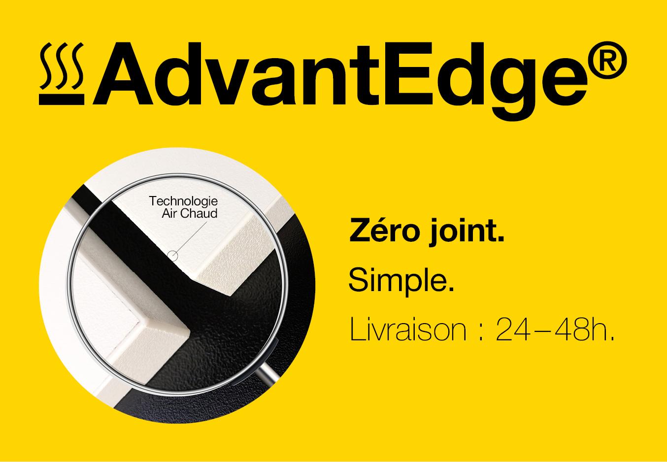 Zero joint avec AdvantEdge - chants air chaud