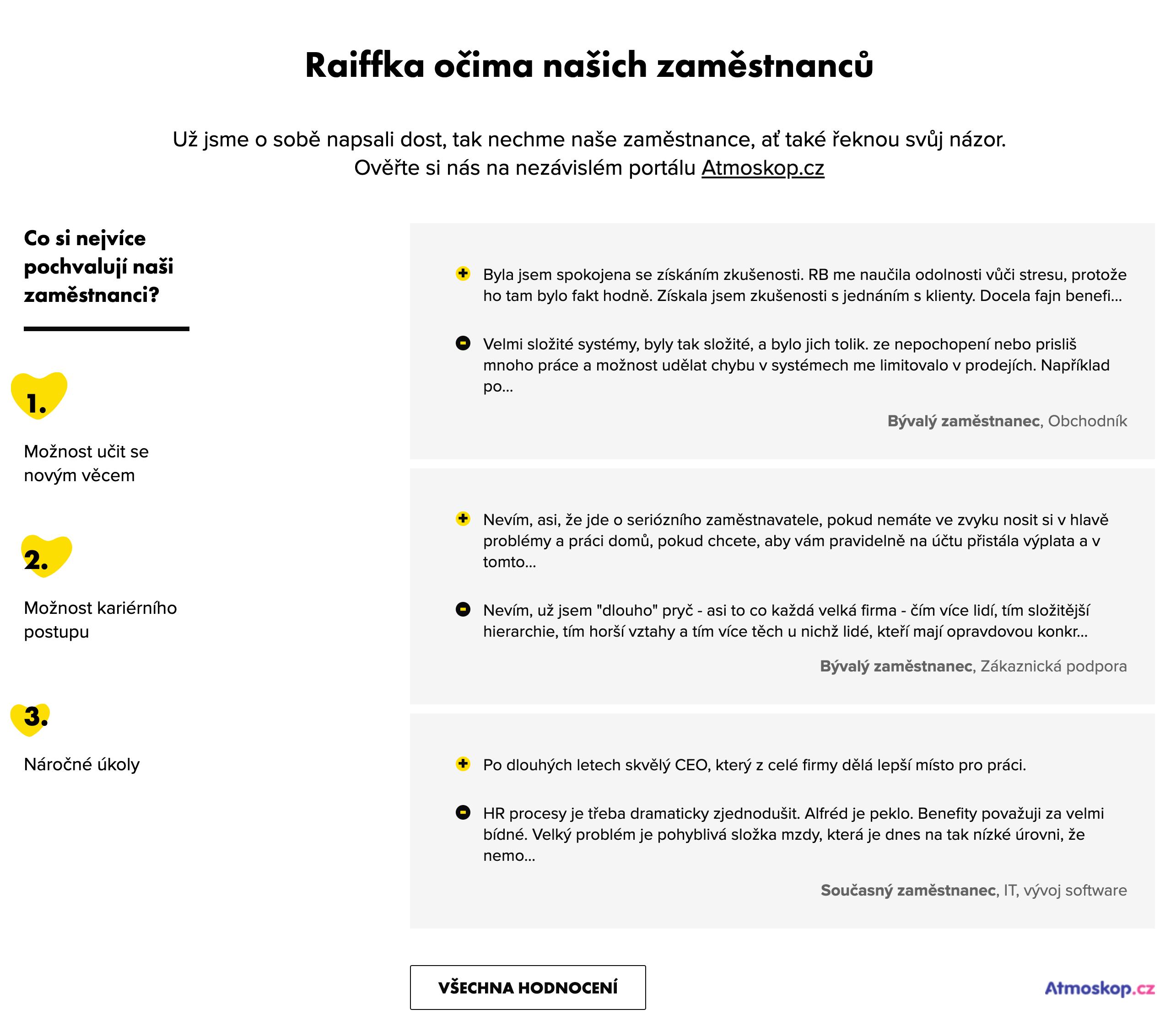 Kariérní stránky Raiffeisenbank